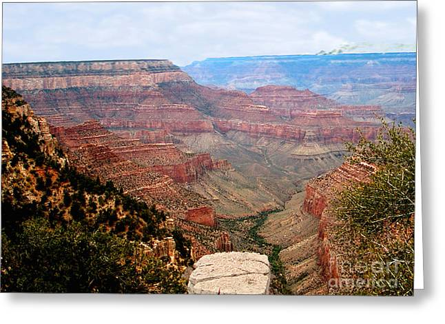 Grand Canyon With Smoke Greeting Card by The Kepharts