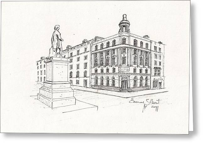 Grand Central Bar Dublin Greeting Card by Eamon Gilbert