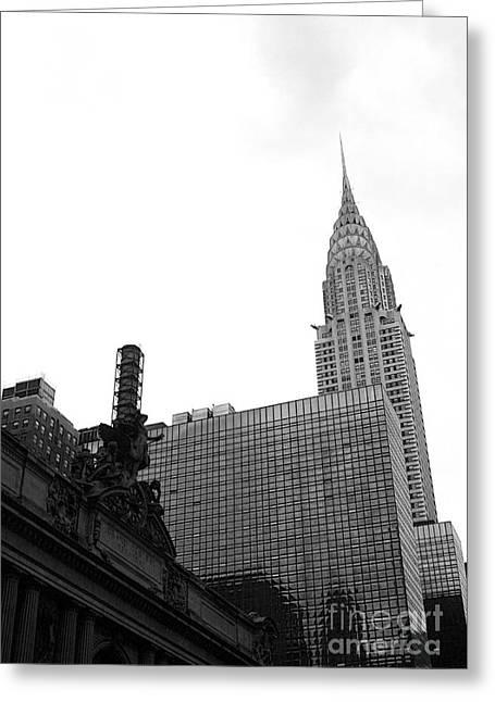 Grand Central-grand Hyatt-chrysler Greeting Card by David Bearden