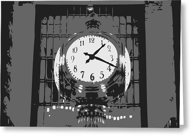 Grand Central Station Bw3 Greeting Card