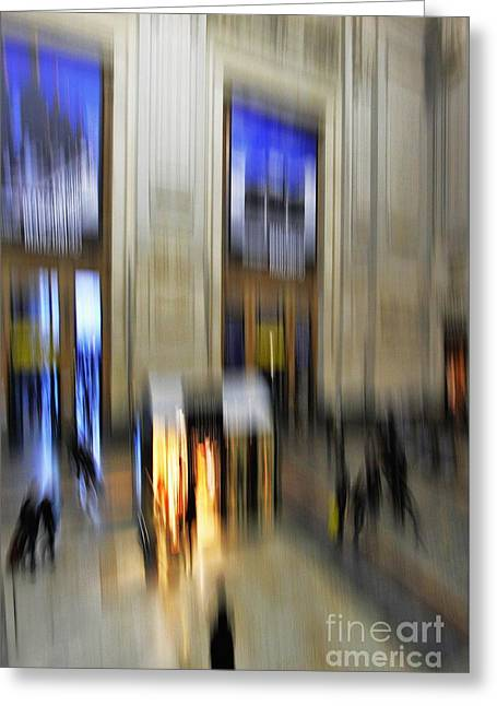 Greeting Card featuring the photograph Grand Central Station Italian Style by Andy Prendy
