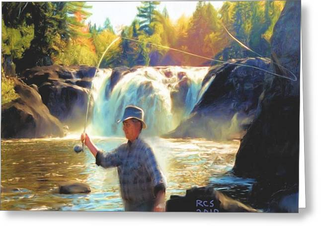 Grand Falls In Maine Greeting Card by Richard Stevens