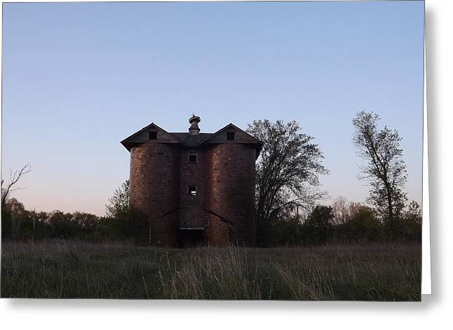 Greeting Card featuring the photograph Grand Old Silo by Gerald Strine