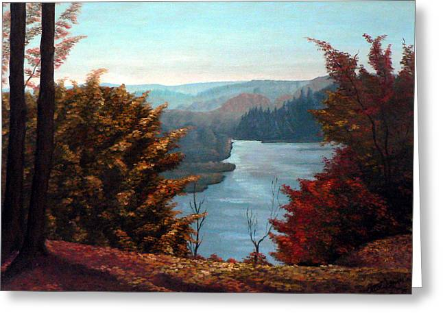 Grand River Look-out Greeting Card by Hanne Lore Koehler