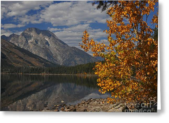 Grand Teton National Park Fall Cloud Mountain Reflections Greeting Card