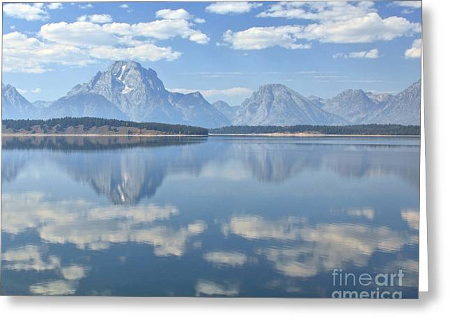 Grand Teton National Park Mountain Lake Reflctions Greeting Card