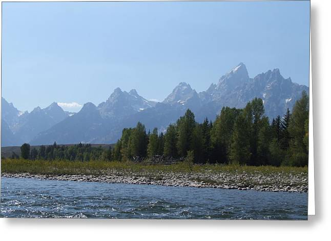 Grand Tetons From The Snake River Greeting Card
