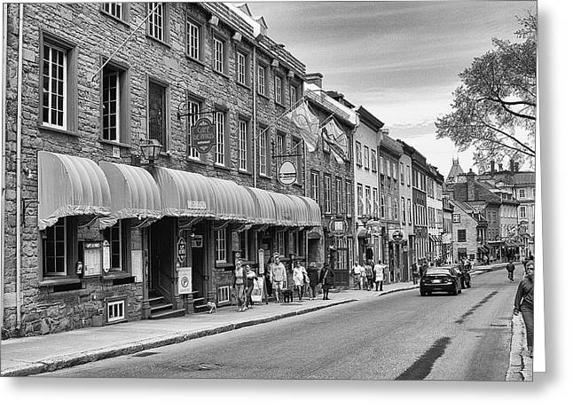 Greeting Card featuring the photograph Grande Allee by Eunice Gibb