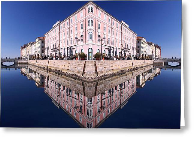 Grande Canal Trieste Greeting Card by Graham Hawcroft pixsellpix