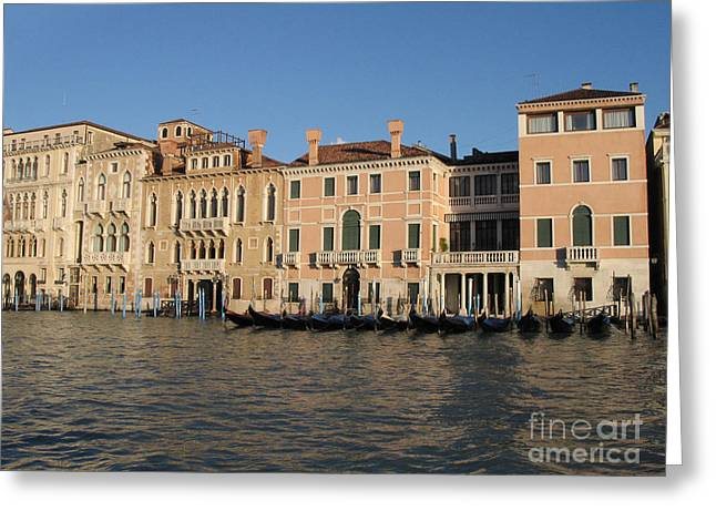 Grande Canal. Venice Greeting Card by Bernard Jaubert