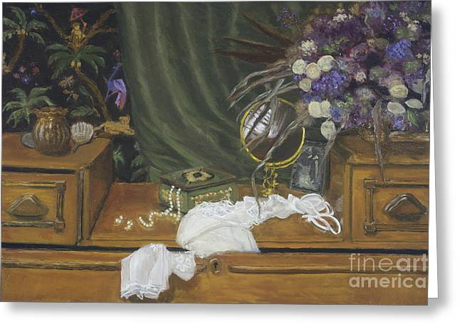 Grandma's Dresser Greeting Card by Kristi NicolaClark