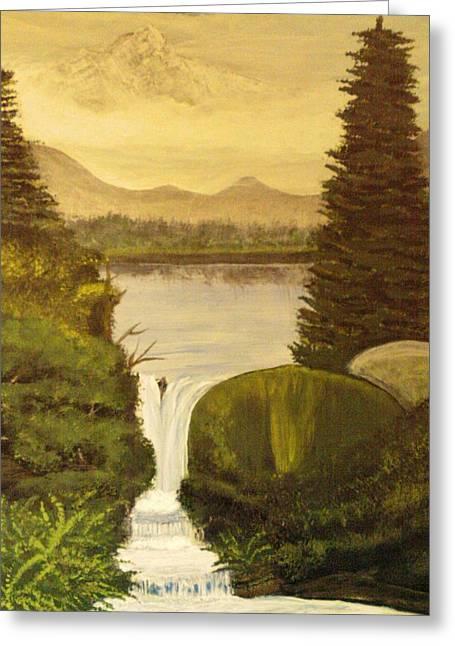 Grandpa Mountain Greeting Card by Mitzi Foreman