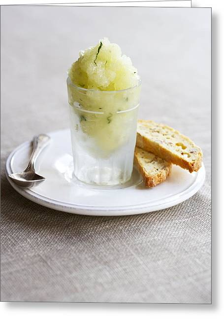 Granita And Biscotti Greeting Card