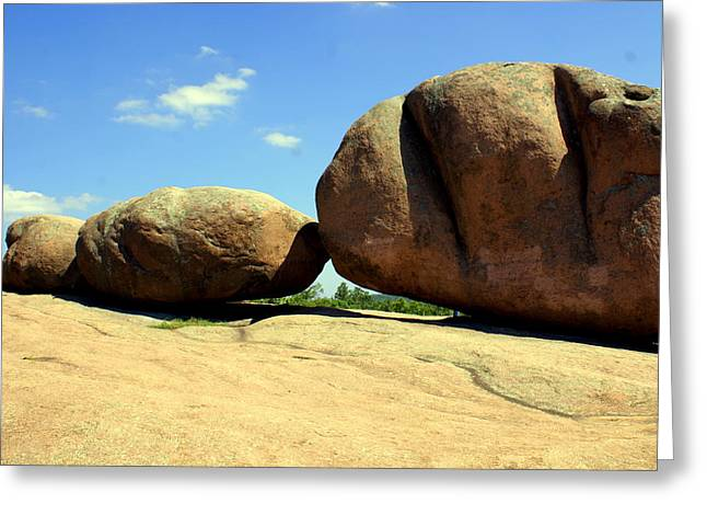 Granite Boulders 2  Greeting Card by Marty Koch