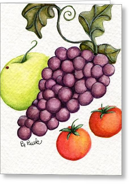 Grape Salad Greeting Card