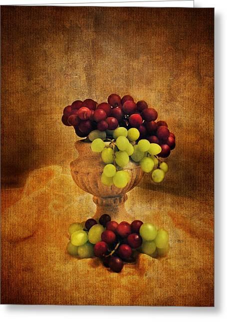 Grapes Greeting Card by Jai Johnson