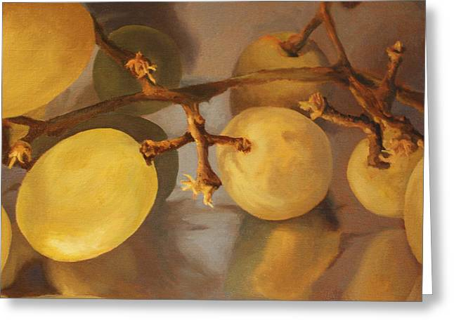 Grapes On Foil Greeting Card