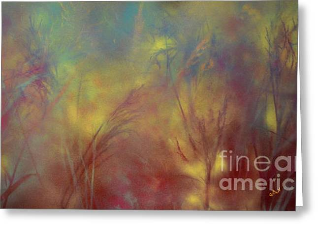 Grasses Greeting Card by Claire Bull