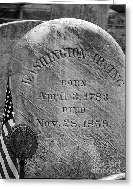 Grave Of Washington Irving Author Greeting Card