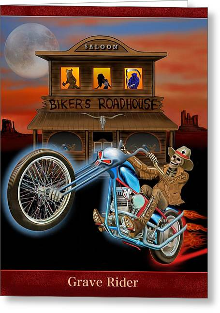 Grave Rider Greeting Card by Glenn Holbrook