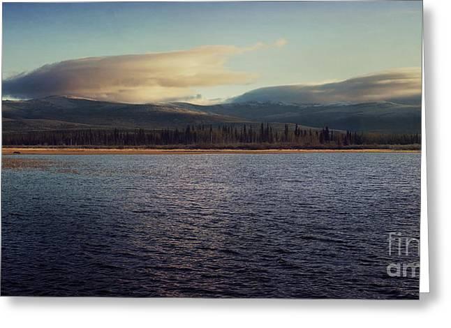 Gravel Lake Greeting Card by Priska Wettstein