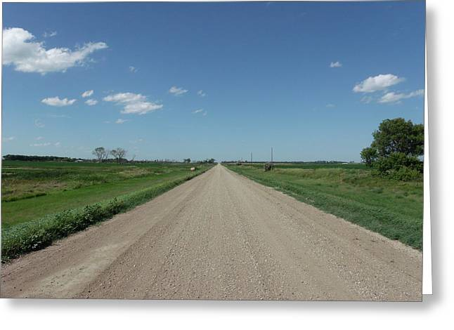 Gravel Road To Nowhere Greeting Card by Brian  Maloney