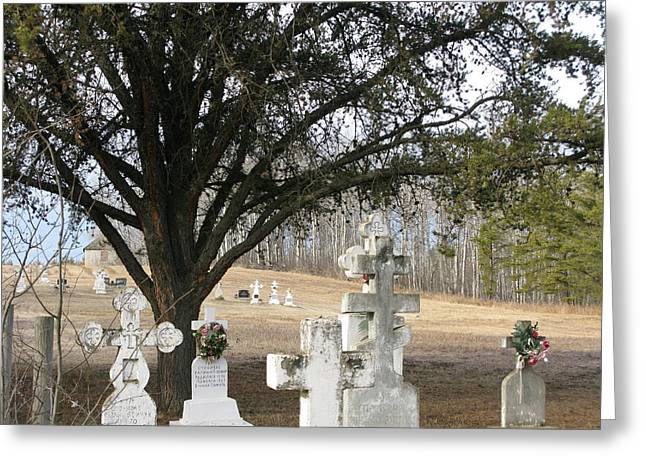 Greeting Card featuring the photograph Graveyard by Brian Sereda