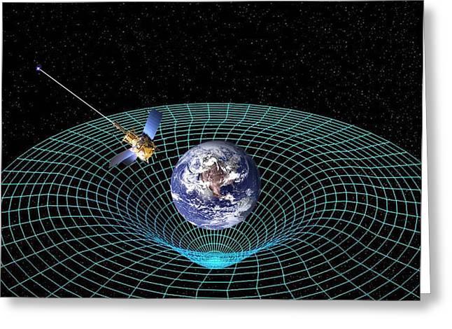 Gravity Probe B Satellite, Artwork Greeting Card by Nasa