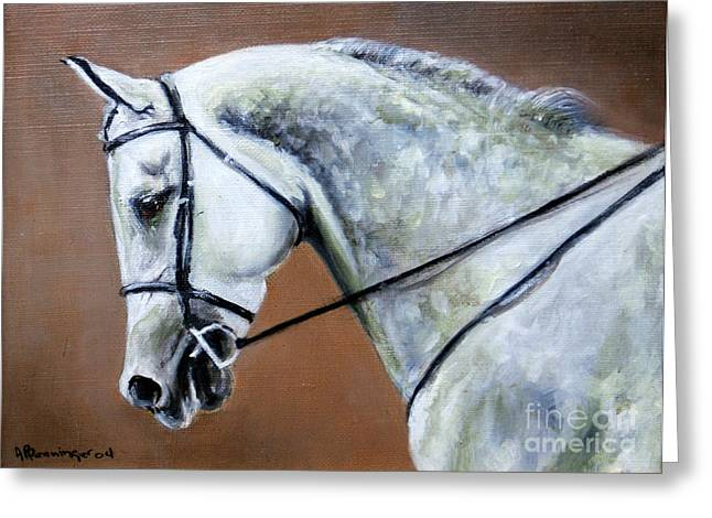 Gray Arabian Greeting Card