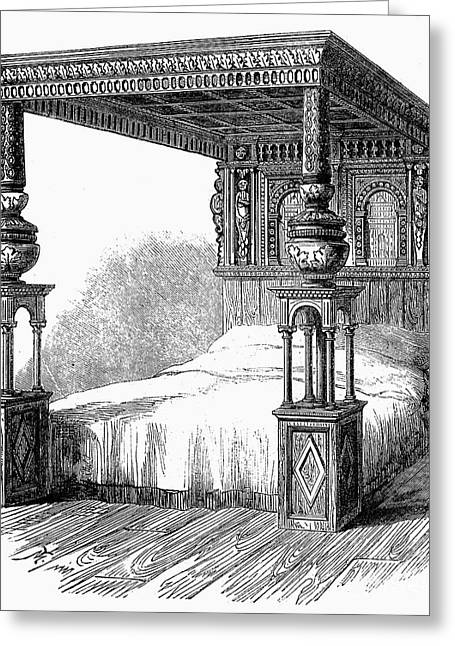 Great Bed Of Ware, C1590 Greeting Card by Granger