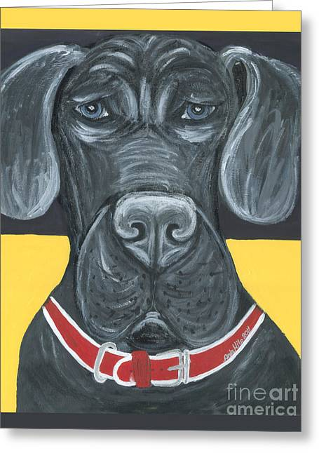 Great Dane Poster Greeting Card by Ania M Milo