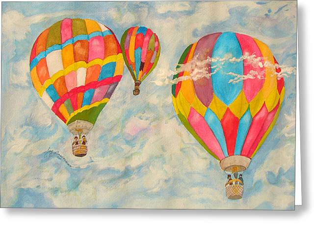 Greeting Card featuring the painting Great Day To Fly by Joy Braverman