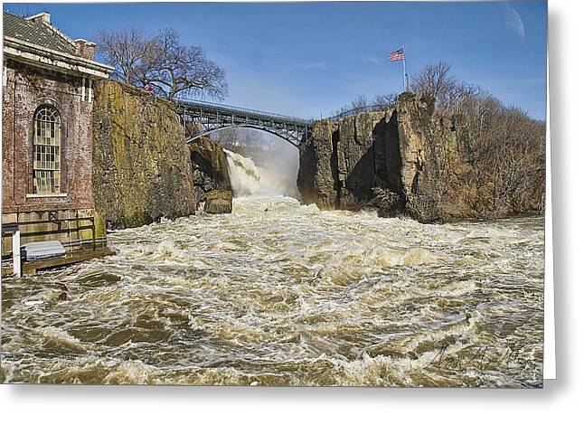 Great Falls Of Paterson    Greeting Card