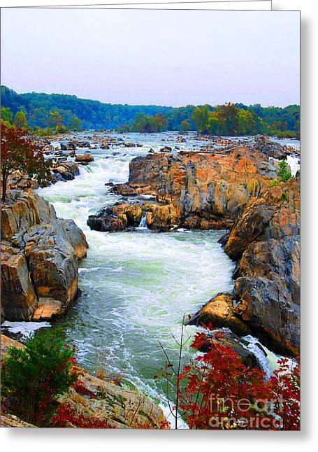 Great Falls On The Potomac River In Virginia Greeting Card