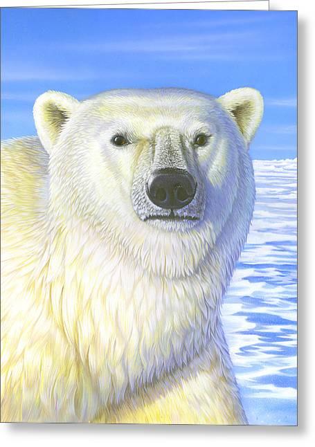 Great Ice Bear Greeting Card