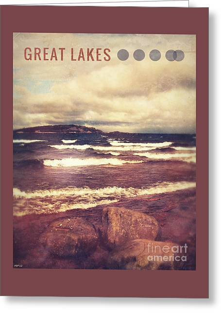 Greeting Card featuring the photograph Great Lakes by Phil Perkins