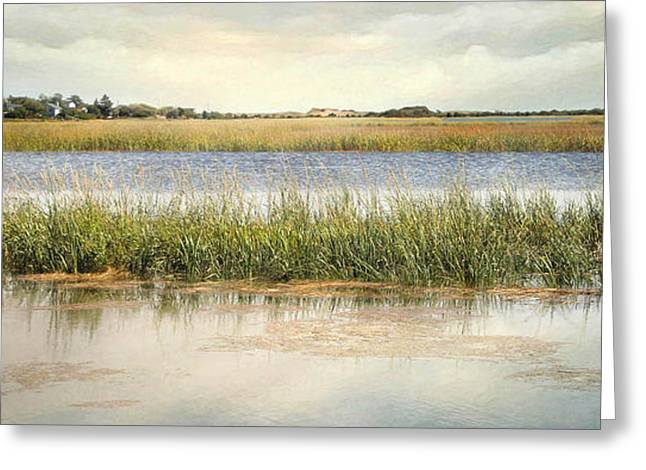 Greeting Card featuring the photograph Great Marsh by Karen Lynch