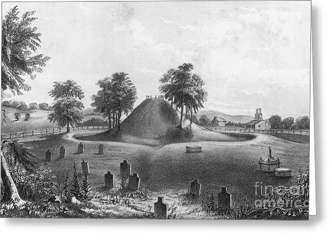 Great Mound At Marietta, 1848 Greeting Card by Photo Researchers