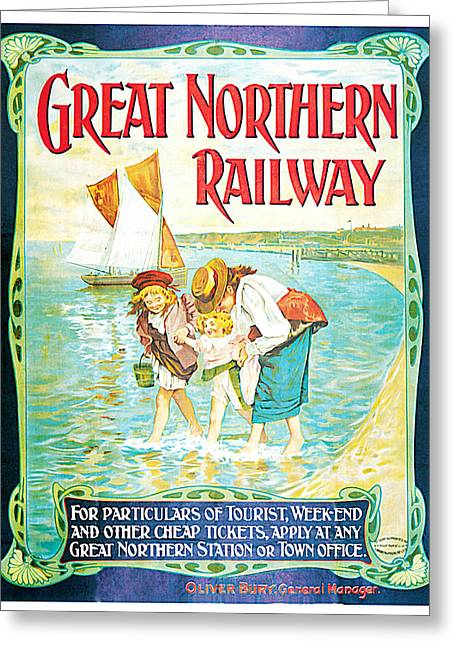 Great Northern Railway Greeting Card by John Hayes