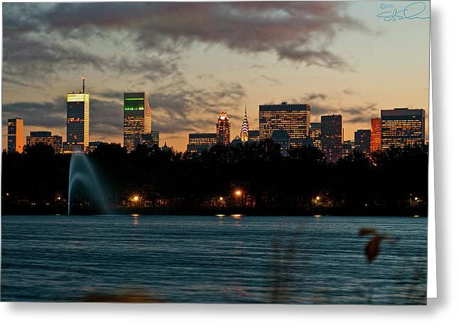 Great Pond Fountain Greeting Card