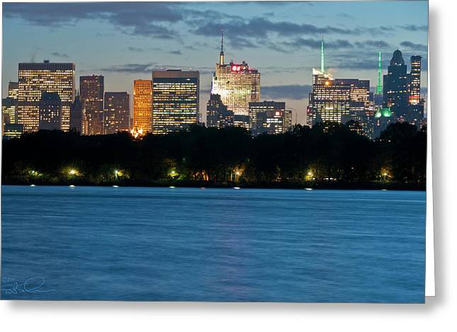 Great Pond Skyline Greeting Card
