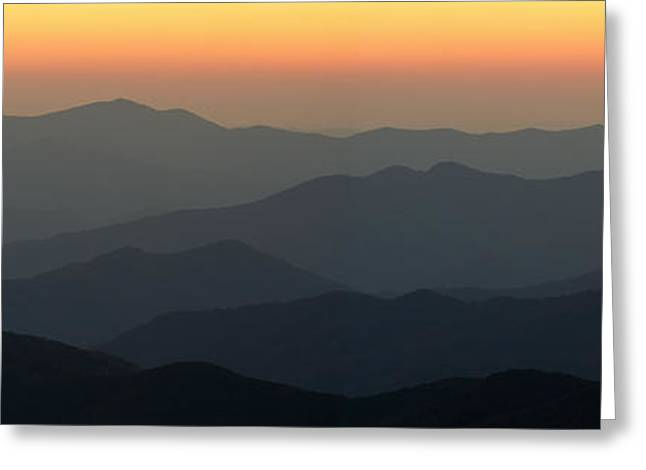 Great Smokie Mountains National Park Sunset Greeting Card