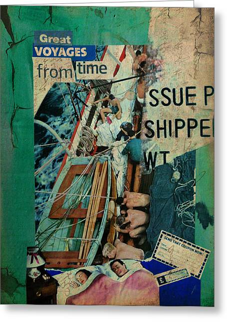 Great Voyages From Time Greeting Card by Adam Kissel