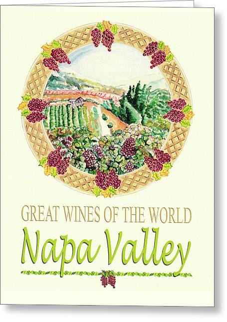 Great Wines Of The World -napa Valley Greeting Card by John Keaton