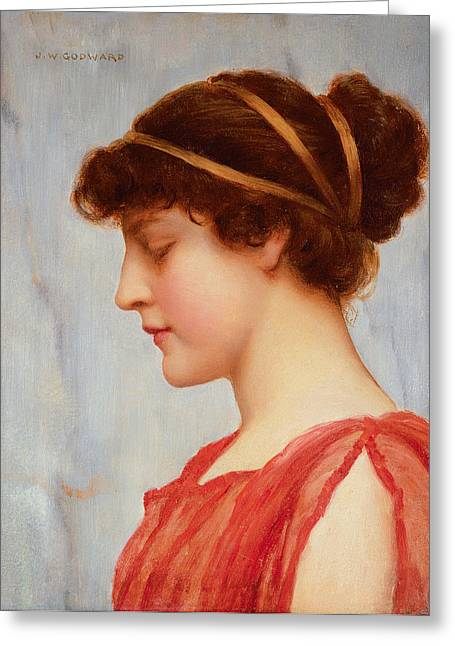 Grecian Reverie Greeting Card by John William Godward