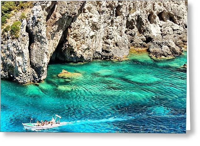 Greece Corfu Island Greeting Card by Meeli Sonn