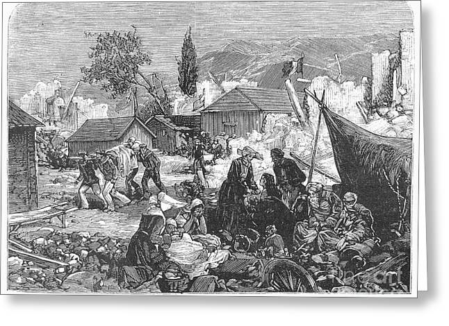 Greece: Earthquake, 1880 Greeting Card