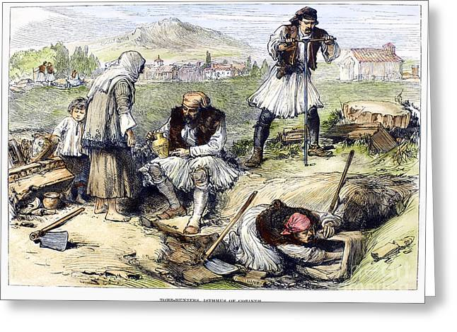 Greece: Grave Robbers Greeting Card by Granger