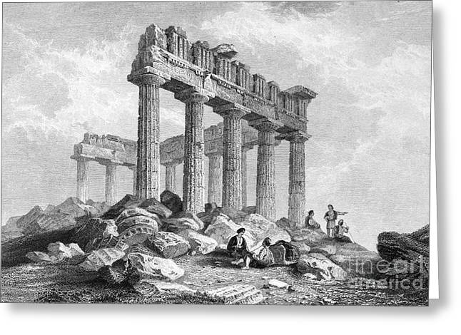 Greece: The Parthenon 1833 Greeting Card by Granger