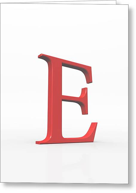 Greek Letter Epsilon, Upper Case Greeting Card by David Parker
